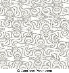 seamless pattern with black and white circles