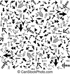 Seamless pattern with black arrows