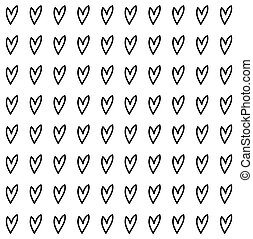 seamless pattern with black heart