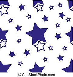 Seamless pattern with black stars on a white background