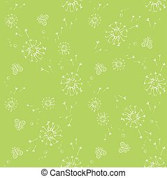 Seamless pattern with Blowball and butterfly,vector...
