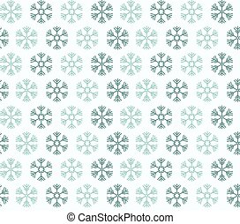 Seamless pattern with blue christmas snowflakes on white background