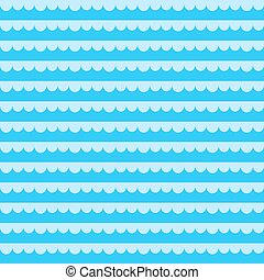 Seamless pattern with blue sea waves. Vector illustration