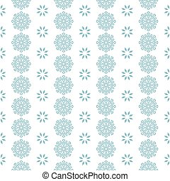 Seamless pattern with blue snowflakes white background