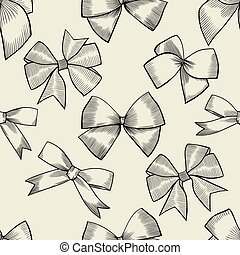 Seamless pattern with bow