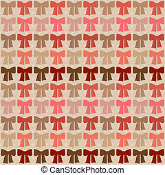 Seamless pattern with bows in retro style.