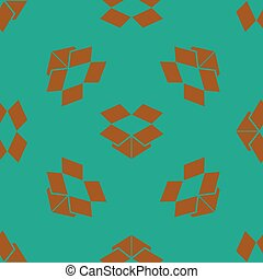 seamless pattern with box