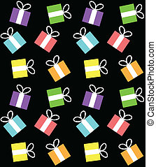 seamless pattern with boxes for gifts