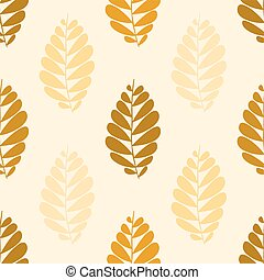 seamless pattern with brown leaves