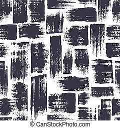 seamless pattern with brush stripes and strokes. Blue color...