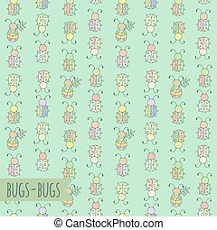 Seamless pattern with bugs