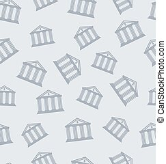 Seamless Pattern with Building of Bank
