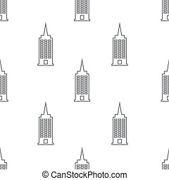 seamless pattern with building