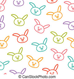 Seamless pattern with bunnies.