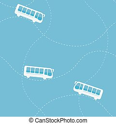 Seamless pattern with bus