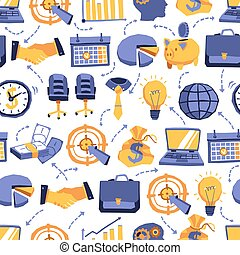 Seamless Pattern With Business Elements