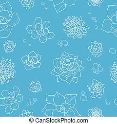 Seamless pattern with cactus. Vector illustration.