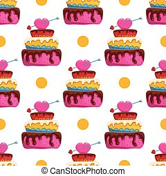 Seamless pattern with cake