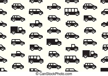 Seamless pattern with Cars and trucks