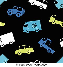 Seamless pattern with cars.