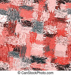 Seamless pattern with cartoon grunge striped wavy...