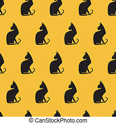 Seamless pattern with cats.