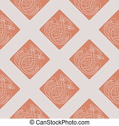 Seamless pattern with Celtic art an