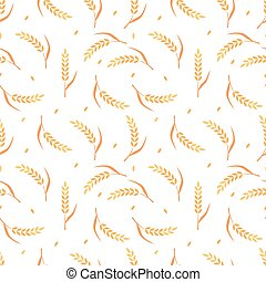 Seamless pattern with cereals.