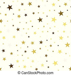 Seamless pattern with chaotic stars. Vector texture