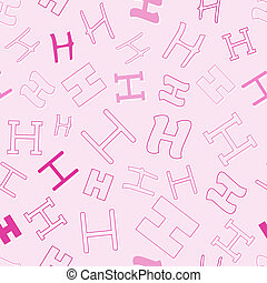 seamless pattern with character H