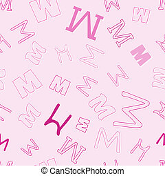 seamless pattern with character M