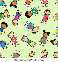 seamless pattern with childs