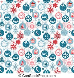 Seamless pattern with  Christmas balls on white. Simple colors. Endless texture for Christmas design, announcements, postcards, posters.