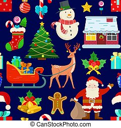 pattern with Christmas decoration
