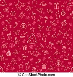 Seamless pattern with Christmas elements for background