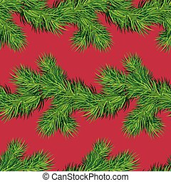 Seamless pattern with Christmas fir