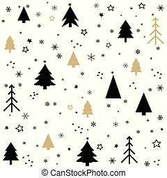 Seamless pattern with Christmas postcard
