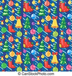 Seamless pattern with Christmas toys