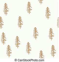 Seamless pattern with Christmas tree. Winter forest.