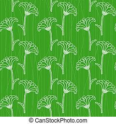 Seamless pattern with chrysanthemums