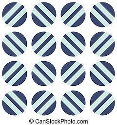 Seamless pattern with circles and lines on a white background.