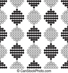 seamless pattern with circles in black and white