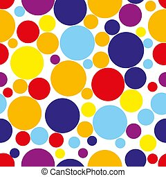 Seamless pattern with circles in bright colors