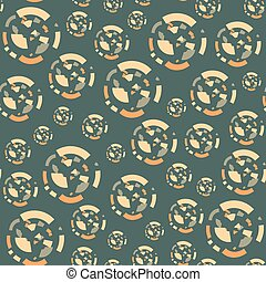 Seamless pattern with circles of the fragments