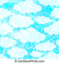 Seamless pattern with clouds. Vector, EPS 10