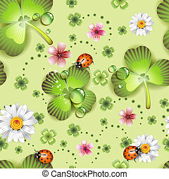 Seamless pattern with clover