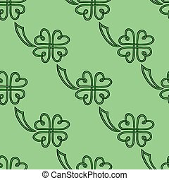 Seamless pattern with clover leaf .