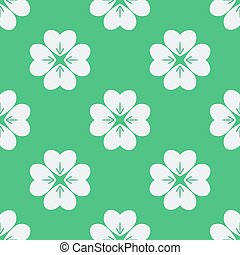 Seamless pattern with clovers.