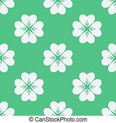 Seamless pattern with clovers. Vector illustration. Soft colors.
