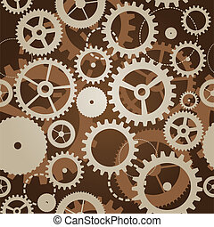 seamless pattern with cogs and gears - vector illustration